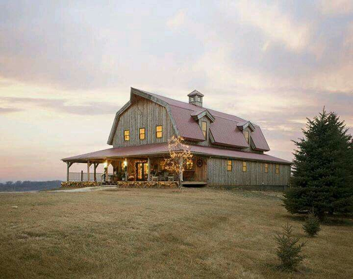 Turn a barn into a house be still my heart fall time for Gambrel barn homes kits