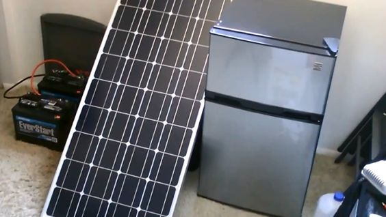 Solar Powered Fridge Freezer 30 Watt Off Grid Refrigeration Solar Power Diy Alternative Energy Best Solar Panels