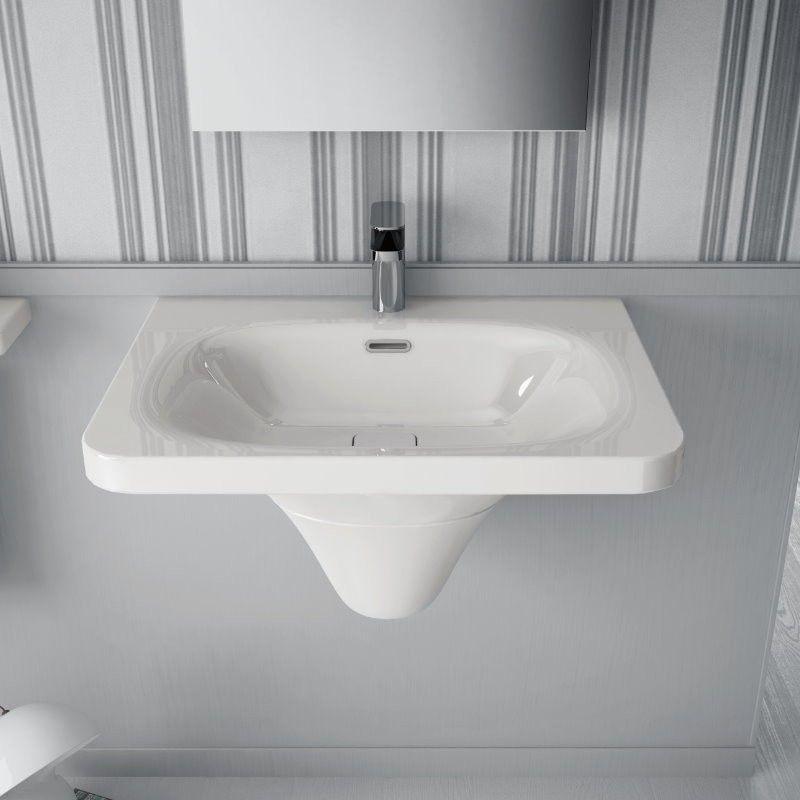 Flat Waschbecken Mit Halbsaule Waschbecken Bad Design Und