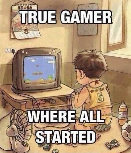 Where it all began... in front of the TV