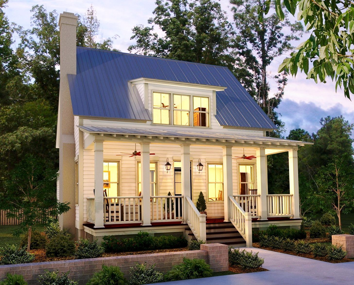 Small country house and floor plans designs images for Tiny house plans with porches