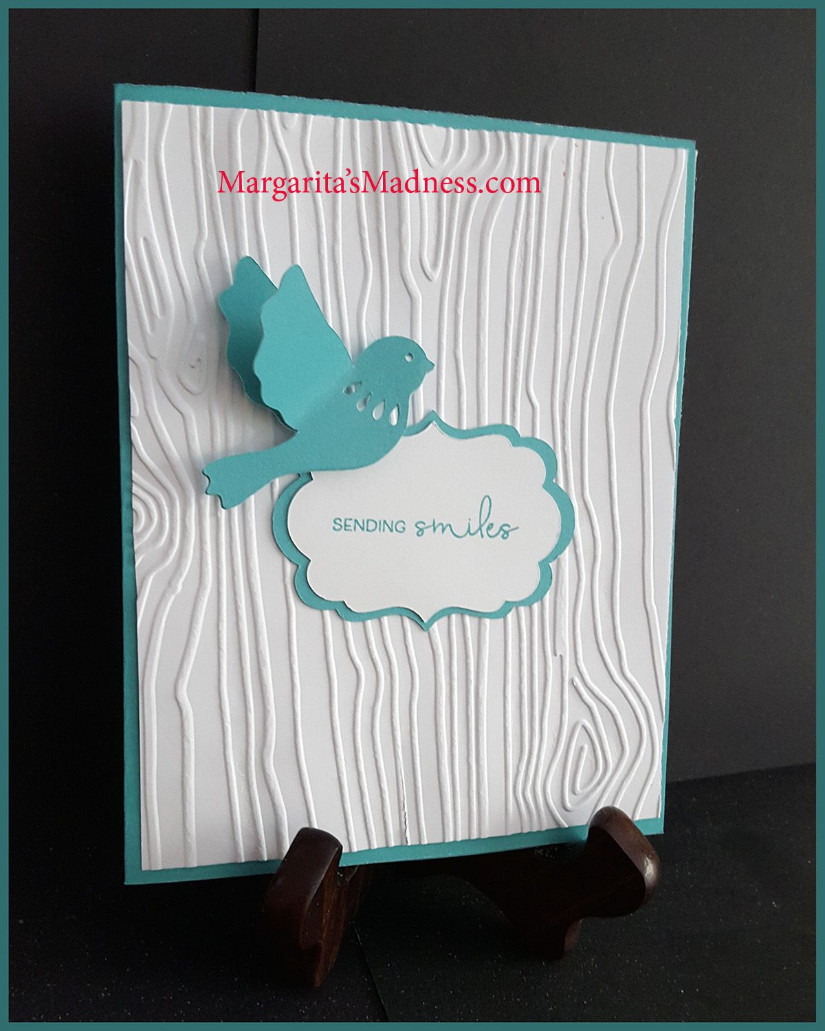 A quick and easy handmade card using teal and white and ctmh