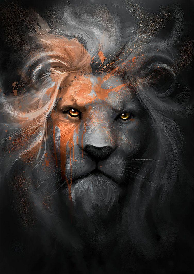 лев с рогами картинка любом