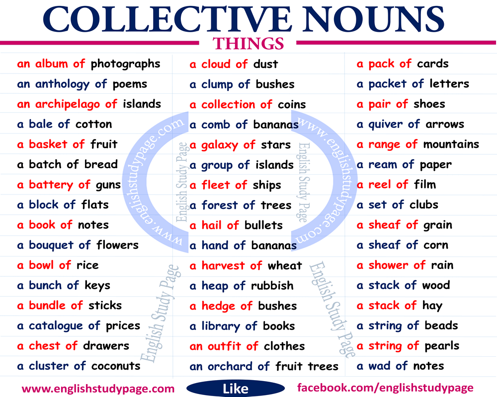 Collective Nouns Singular Or Plural English Study Page Collective Nouns English Collective Nouns English Study