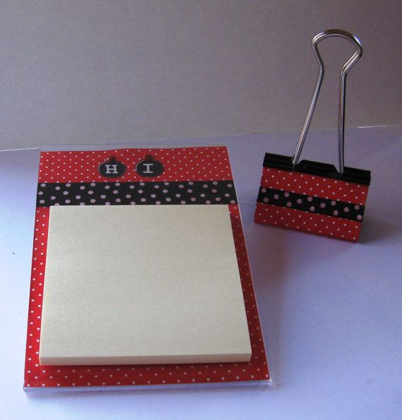 Post it note holder handmade frame note pad paper photo business post it note holder handmade frame note pad paper photo business card holder home decor office organizer set red white black colourmoves