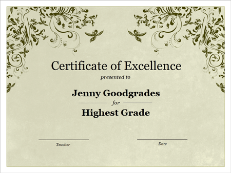 A Template For An Awards Certificate New Fonts Google Docs Flyer