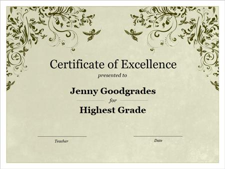 A Template For An Awards Certificate Google Docs Flyer