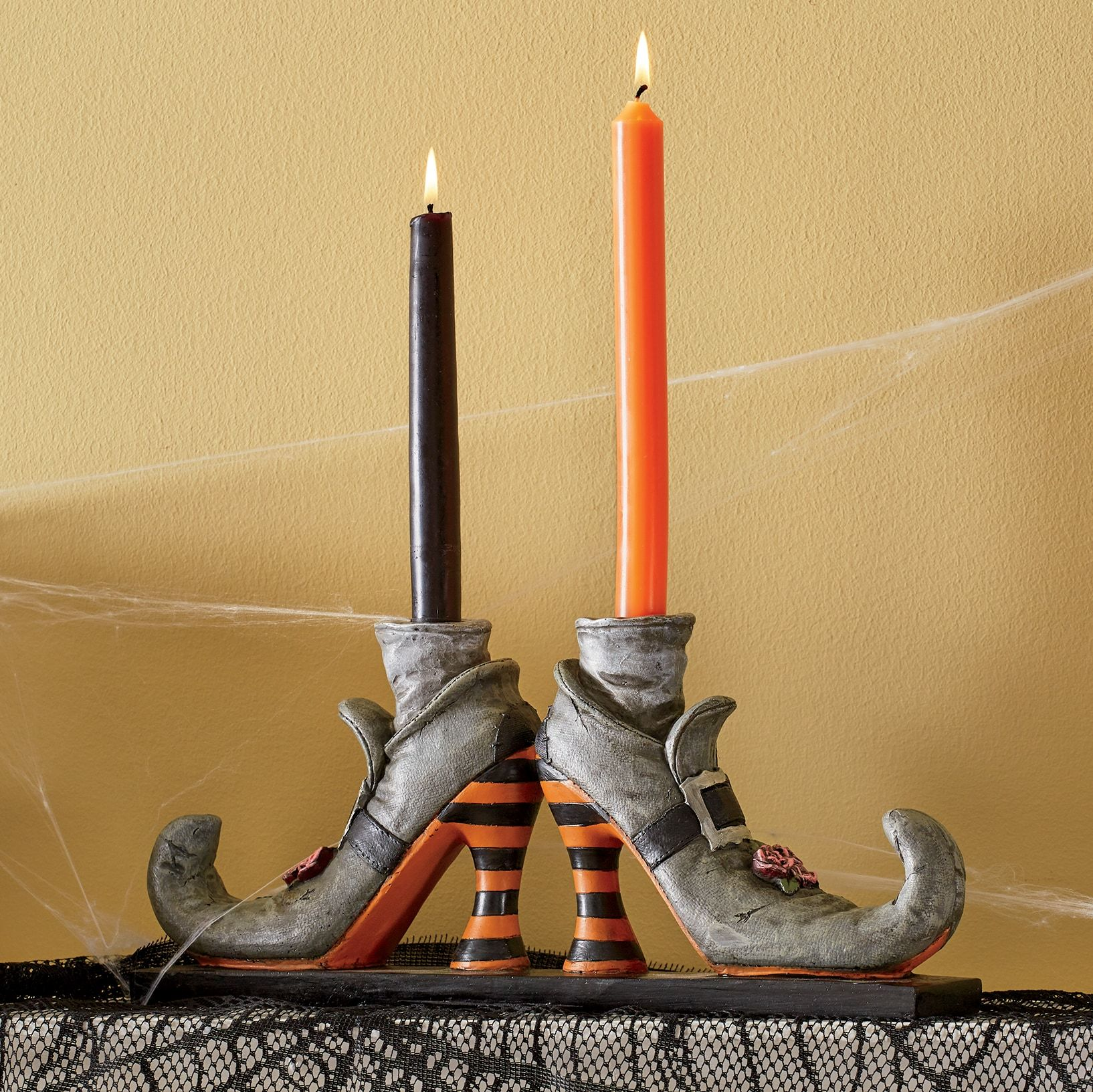 Witch Shoes Candleholder Witch Shoes Halloween Candles Holders Candle Holders