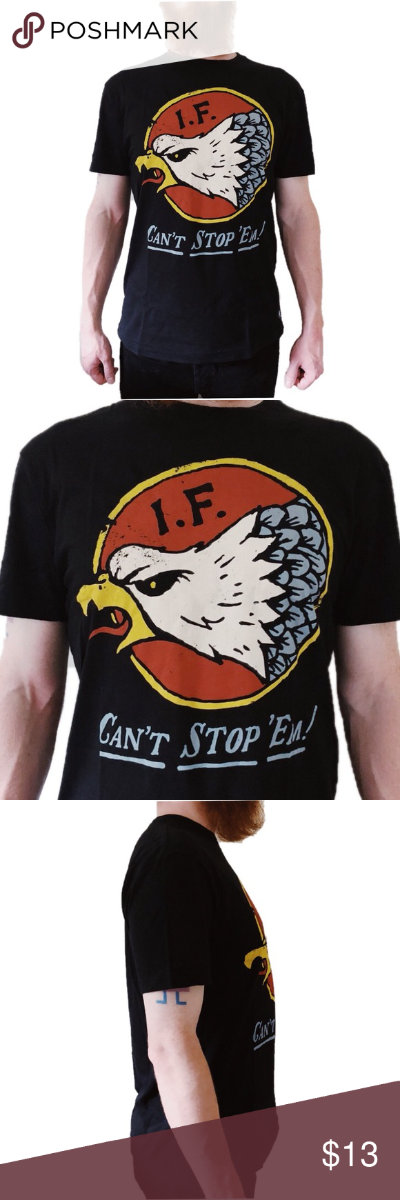 Men's Iron Fist Can't Stop 'Em Logo Tee NWT Logo tees
