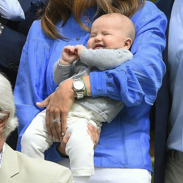Little Prince Alexander looks just like his momma, Princess Sophia! This Christening is scheduled for 9/9/16.