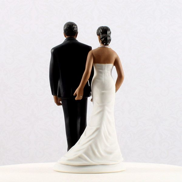 Good African American Wedding Cake Toppers Bride And Groom With Funny