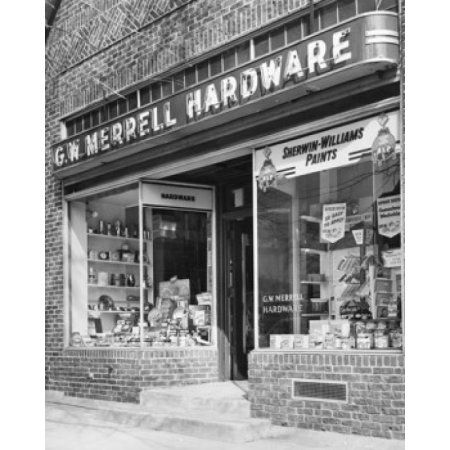 Facade of a hardware store Canvas Art - (18 x 24)