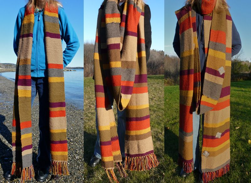 Free Patterns & color references to create your own 4th Doctor scarf ...