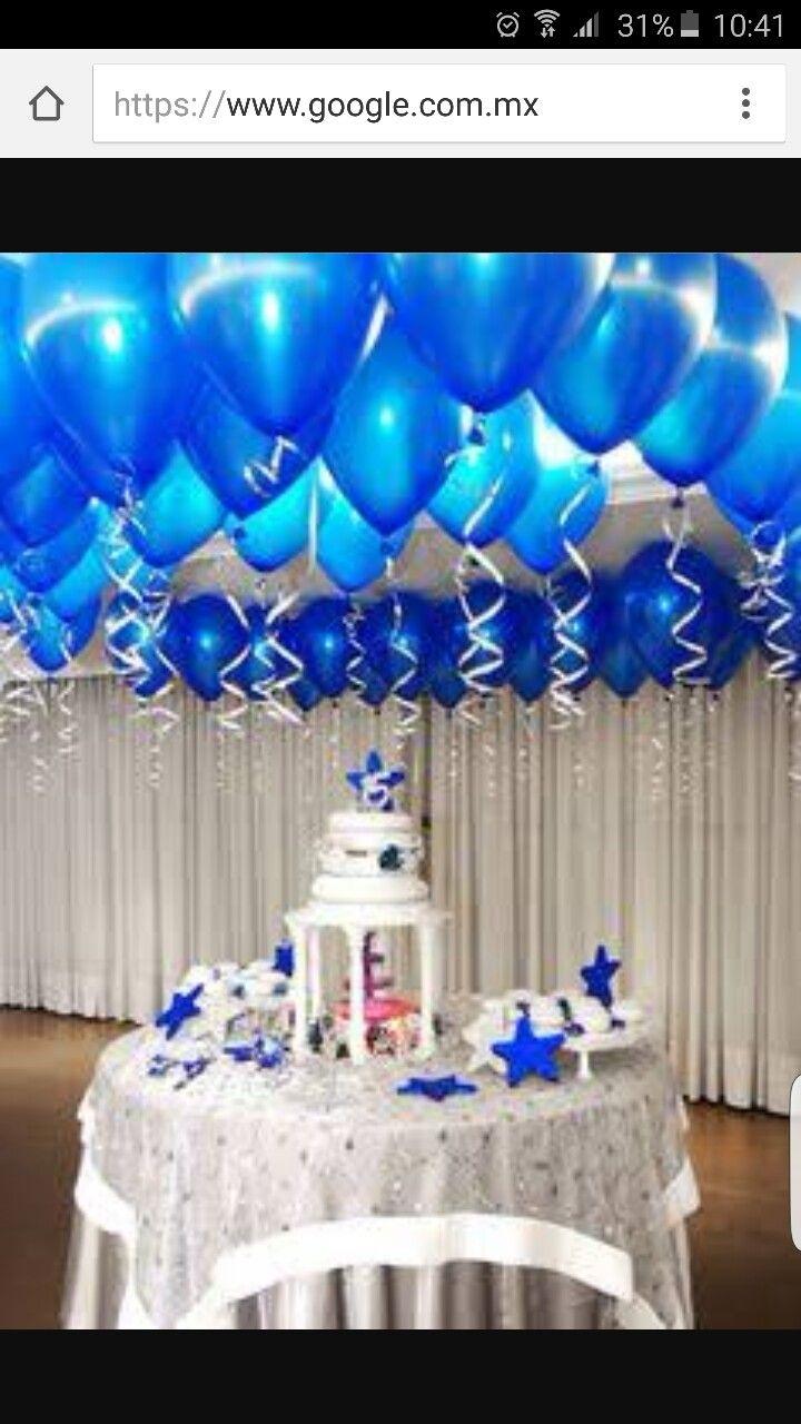 Pin de nicolee valentina mera en fiestas de 15 birthday for Decoracion petrole azul