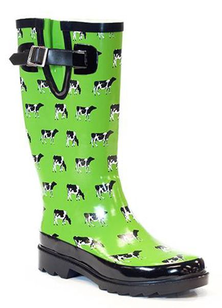 turquiose cows rain boots | Mucking About | Pinterest | Rain boots ...