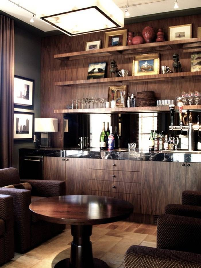 basement bar area | Contemporary family rooms, Bars for ...