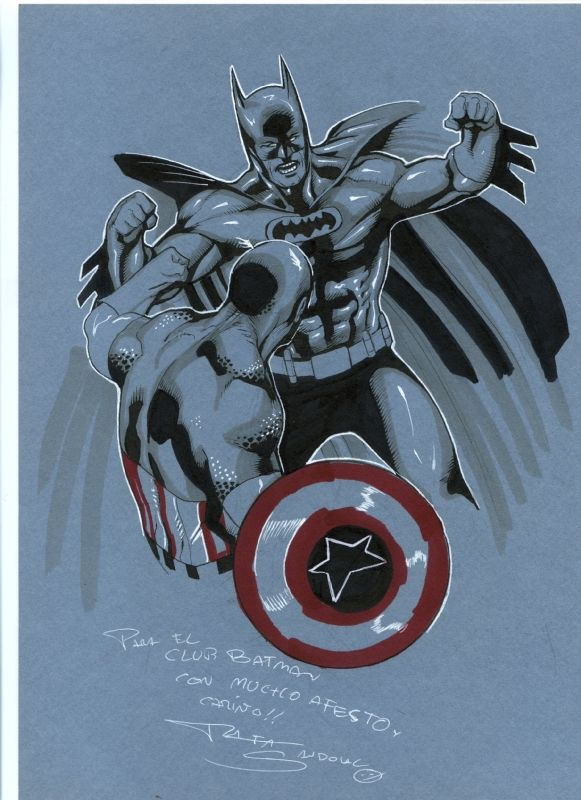 Batman vs Captain America by Rafa Sandoval Comic Art