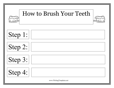 Toothbrush Instructional Template Writing Template  Also Other