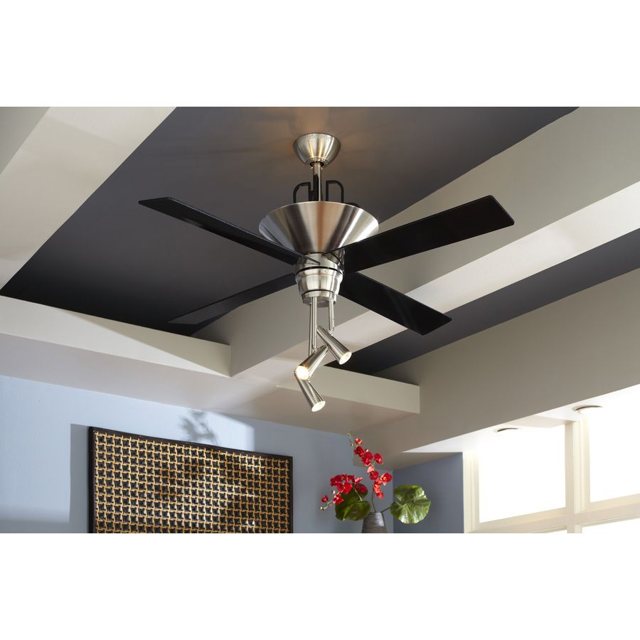 Shop harbor breeze galileo 52 in brushed chrome downrod mount shop harbor breeze galileo 52 in brushed chrome downrod mount ceiling fan with light kit aloadofball Choice Image