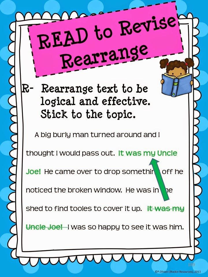 Upper Elementary Snapshots: Revisions in Writing- 8 Rockin Steps to Revise!