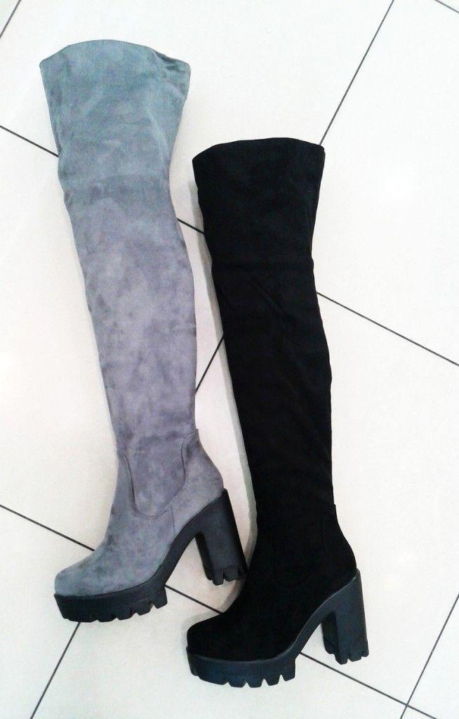 Muszkieterki Za Kolano Grunge Gruby Spod Na Slupku 5776842867 Oficjalne Archiwum Allegro Knee Boots Over Knee Boot Fashion
