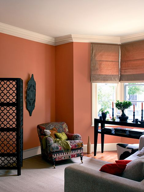 Tintas coral mbar terroso home decor cores - Coral paint color for living room ...