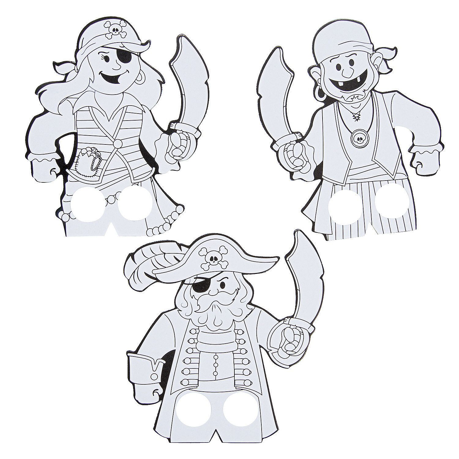 Color Your Own Pirate Finger Puppet
