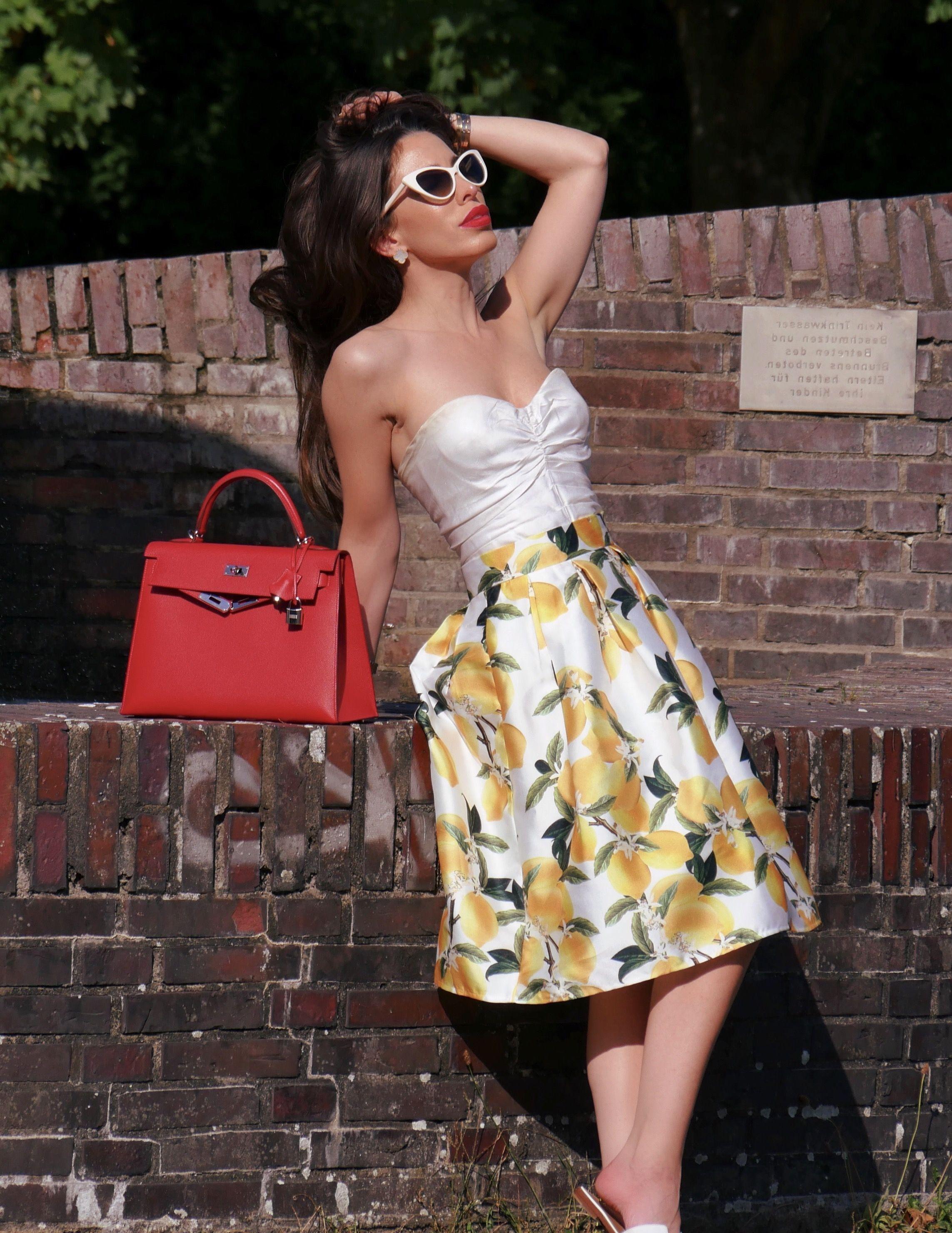Zitronen Lemons Lemon Print Street Style Ootd Wiwt Outfitinspo Hermes
