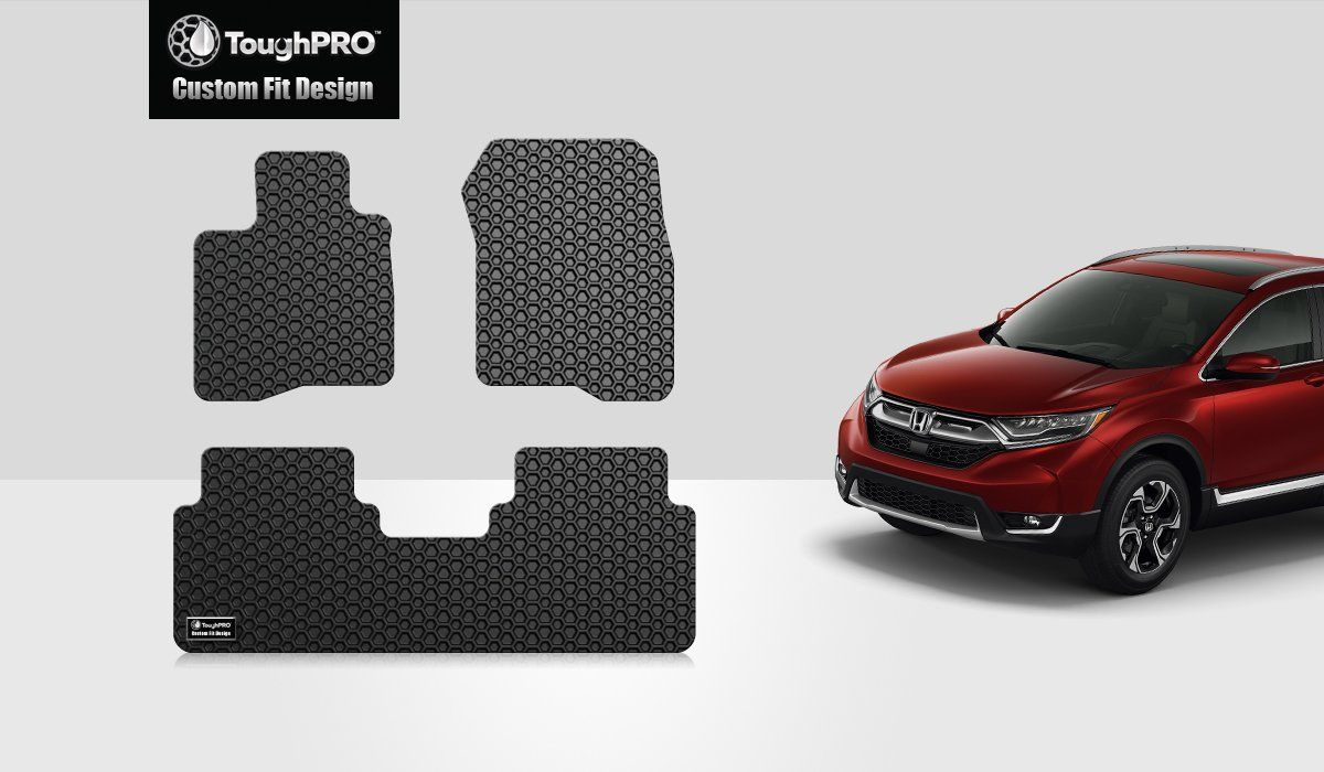 Toughpro Honda Cr V Floor Mats All Weather Heavy Duty Black Rubber 2017 2018 2019 See This Great Product This In 2020 Honda Crv Rubber Floor Mats Honda Cr