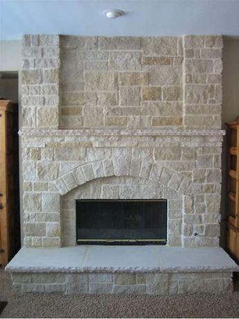 Love That Stone Outside Facade Or Cozy Fireplace That You See Unless You Live In A Traditiona Stone Veneer Fireplace Faux Stone Fireplaces Farmhouse Fireplace