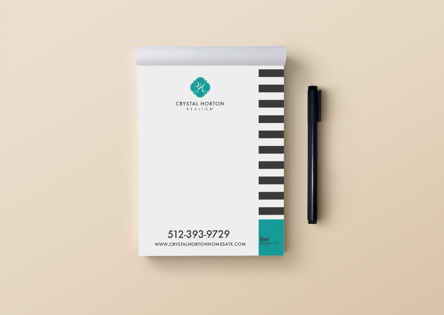 Real Estate Notepads for Modern Realtor STRIPES Cheap pre-designed ...