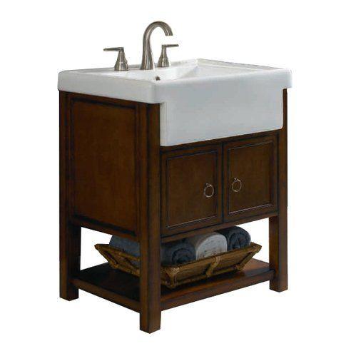 Superior Allen Roth Sable Mitchell Bath Vanity With Farmhouse Sink. Already  Installed In Guest Bath Off. Bathroom Vanities ...