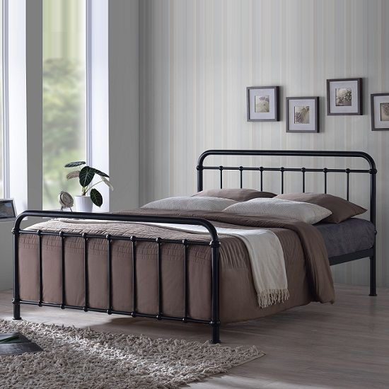 Miami Victorian Style Bed In Black Metal This Classic Look Gives Modern Touch To Your Bedroom Finish Features OMiami Bl