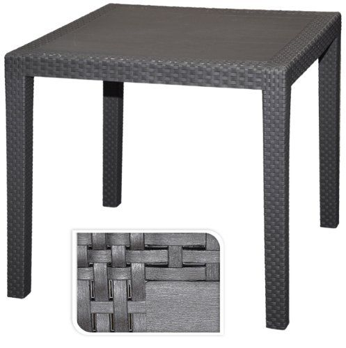 Amazon De Gartentisch Tisch Bistrotisch Beistelltisch Rattan Optik Anthrazit 79 X 79 Cm Gartentisch Bistrotisch Gartentisch Gunstig