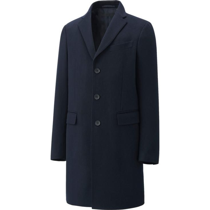 This elegant Chesterfield coat is made with a blend of warm wool ...
