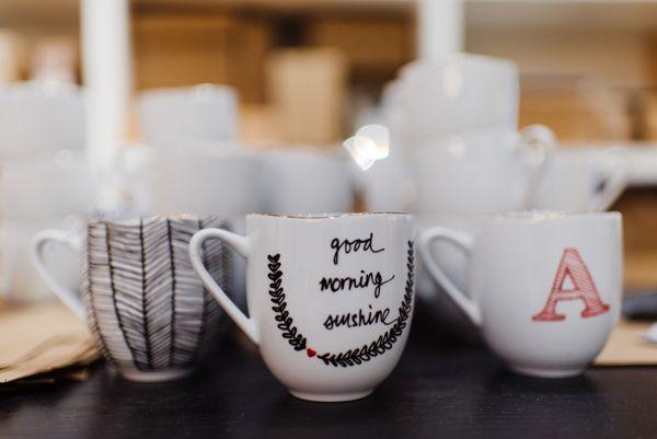 Winter Bridal Shower Ideas Diy Personalized Mugs Diy