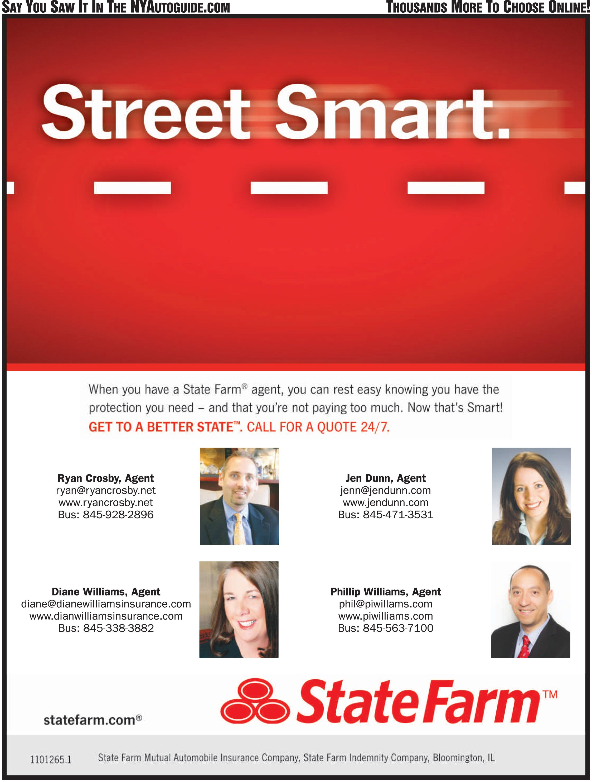 StateFarm Insurance, and GREAT AGENTS - call 855-803-5510 today for a quote, and great service always!