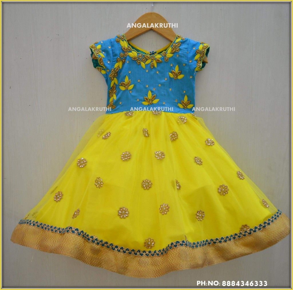 Kids Party Wear Designs With Rich Hand Embroidery Kids Frock Designs