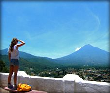 Antigua, Guatemala - couldn't ask for a better view!