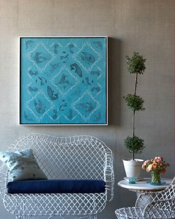 Design Inspiration Silk Scarves Decor Framed Fabric Wall Decor