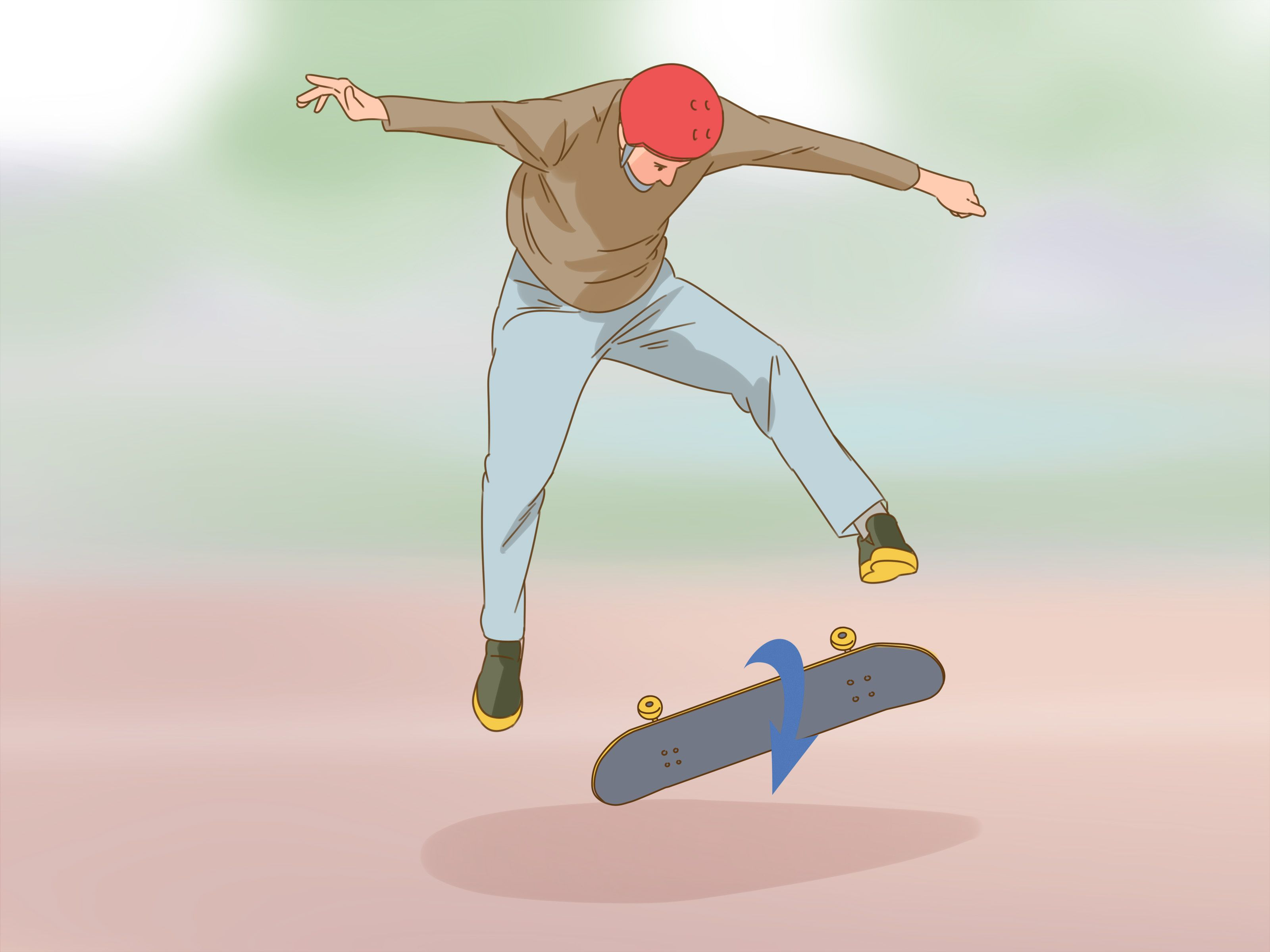 How To Heel Flip The Heel Flip Or Heelflip Is A Beautiful Skateboard Trick And Looks Absolutely Mint When You Re Able To Execute Kicks Knee Up Mirror Image