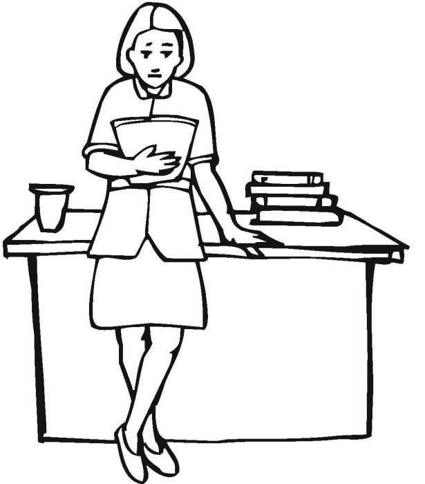 coloring pages of teachers - photo#26
