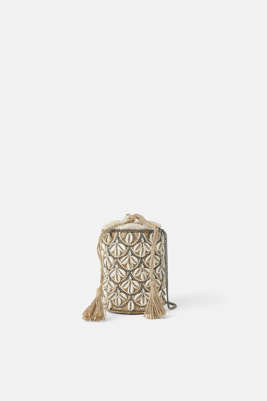 Image 1 of SEASHELL CROSSBODY BASKET BAG from Zara 50d0cfe462040