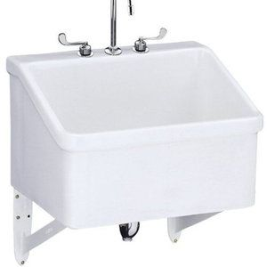 Kohler K12794 0 Hollister Utility Sink Commercial Sink   White