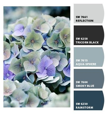 Paint colors from Chip It! by Sherwin-Williams - bathroom/living room/bedroom colors (grays, blues)