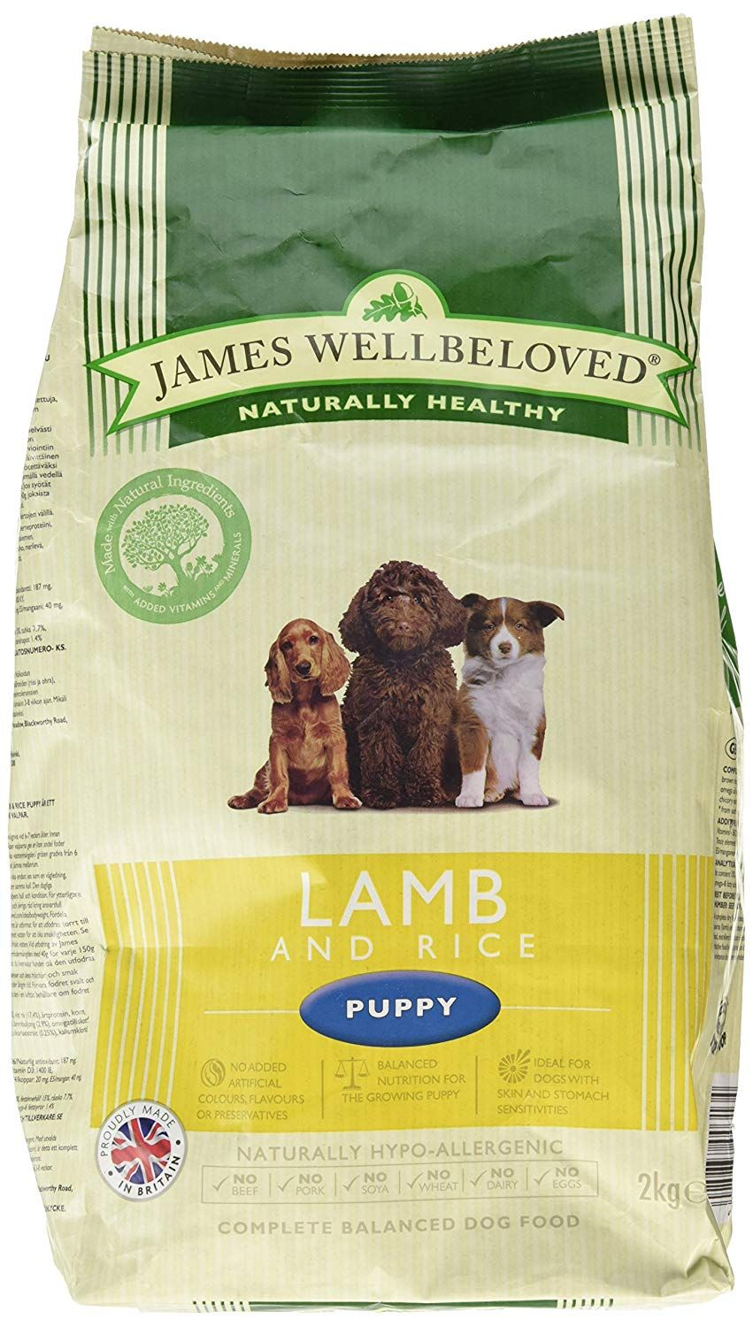 James Wellbeloved Puppy Lamb And Rice Kibble * For more