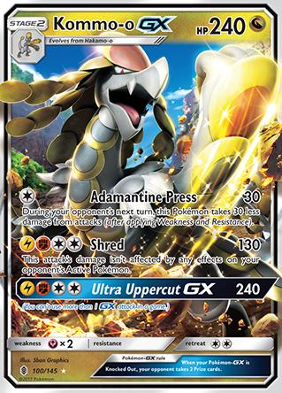 Kommo O I Gx I Pokemon Cards Pokemon Cool Pokemon Cards