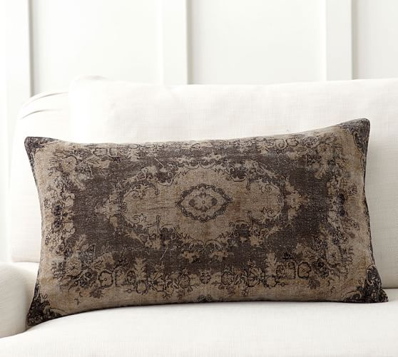 Sami Printed Velvet Lumbar Pillow Cover Pillow Covers
