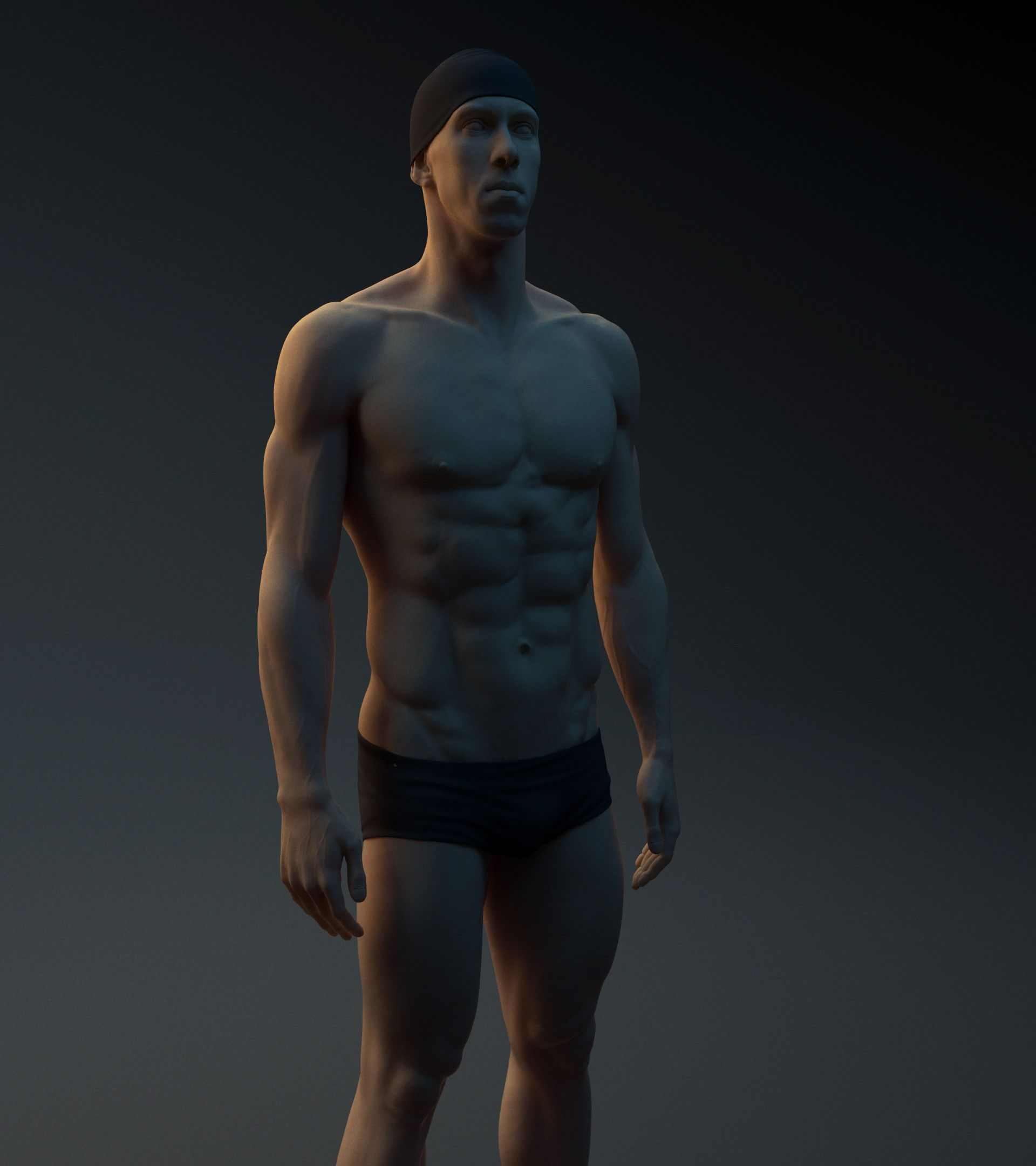 Artstation Michael Phelps Anatomy Study Jakub Chechelski 3d