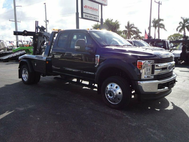 2019 Ford F550 Xlt Mpl40 Wrecker Tow Truck Jerr Dan 4x4 Exented Black Truck 2019 Ford Ford F550